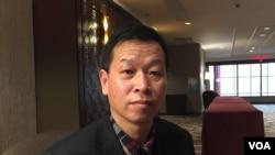 中国妇权大陆项目负责人姚诚(本名谭春生) (美国之音方冰拍摄)