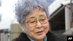메구미 씨의 어머니 요코타 사키에 씨 (자료사진)