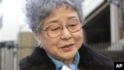 납북 피해자 요쿄타 메구미의 어머니. (자료사진)