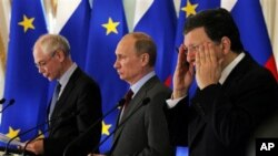 Yevropa Kengashi rahbari German Van Rompuyning aytishicha, prezident Vladimir Putin va 27 a'zolik ittifoq qarashlarida farq salmoqli