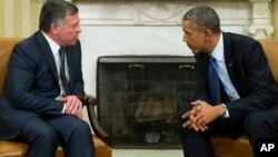 Король Иордании Абдалла II и Барак Обама
