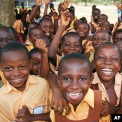 Primary school students at Akebubu, Ghana.