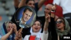 تماشاگران زن سوری در ورزشگاه آزادی