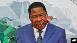 Thomas Boni Yayi, président sortant du Bénin (AP Photo/ Manish Swarup)
