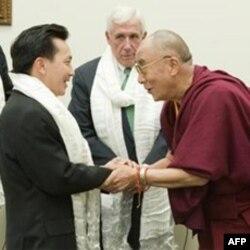 Ông Cao Quang Ánh từng diện kiến lãnh tụ tinh thần Tây Tạng, Đức Đạt Lai Lạt Ma, ở thủ đô Washington hồi tháng Hai vừa qua