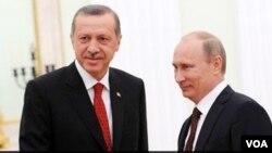 Реджеп Эрдоган и Владимир Путин (архивное фото)