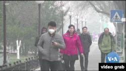 Polusi udara di China. (Foto: VOA/videograb)
