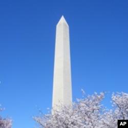 美国首都著名地标华盛顿纪念碑