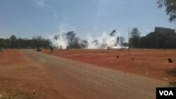 Teargas everywhere ...