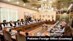 افغان طالبان کے دوحہ آفس کے ترجمان کے مطابق طالبان کا وفد چھ اکتوبر تک پاکستان میں قیام کرے گا (فائل فوٹو)