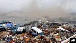 日本星期五地震引發的海嘯造成的破壞