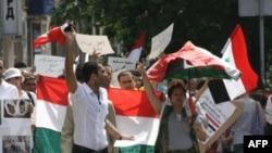 Протести проти президента Асада відбулися поза Сирією. На зеімку протест у Києві