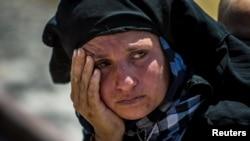 Suriyalik qochoq ayol, 16-iyun, 2015-yil.