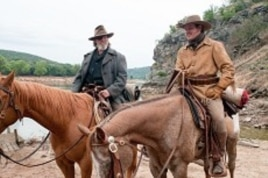 """Left to right: Jeff Bridges plays Rooster Cogburn and Matt Damon plays LaBeouf in Paramount Pictures' """"True Grit."""""""