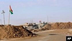 Un point de contrôle irakien dans le nord de l'Irak, le 3 décembre 2016.