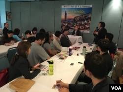 台湾女医师协会监事黄敏灵分享参加NGO活动经验 (美国之音钟辰芳拍摄)