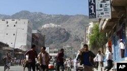 ການປະທ້ວງທີ່ເມືອງ Taiz ຂອງເຢເມນ ວັນທີ 31 ພຶດສະພາ 2011