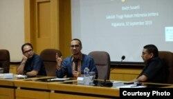 Diskusi mengenai masa depan KPK di FH UGM Yogyakarta. (Foto: Humas UGM)