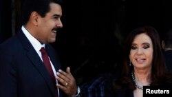 Nicolás Maduro, y Cristina Fernández de Kirchner aseguraron que ambos países reafirmarán sus tratados económicos existentes.