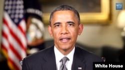 Tổng thống Hoa Kỳ Barack Obama trong diễn văn hàng tuần phát thanh hôm nay (18/5/2013).