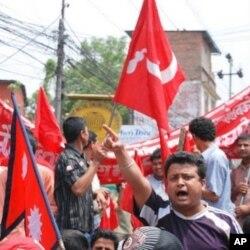 'Yan Mao na kasar Nepal a kan hanyarsu ta zuwa gangamin ranar Ma'aikata a Kathmandu