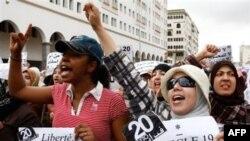 Phụ nữ Ma Rốc xuống đường biểu tình chống tham nhũng tại Casablanca