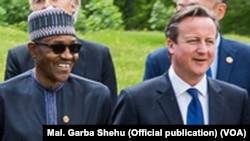 Le président nigérian Muhammadu Buhari et le Premier ministre britannique David Cameron lors du sommet du G7 à Munich, le 8 Juin 2015.