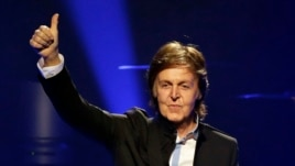 Paul McCartney performs during the first U.S concert of his