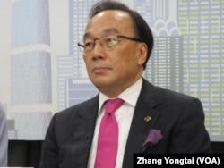 香港公民党主席梁家杰(美国之音张永泰拍摄)