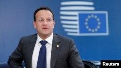 Leo Varadkar, primer ministro de Irlanda, llega a una reunión de líderes de la Unión Europea en Bruselas, Bélgica, el 2 de julio de 2019.