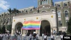 2017年台灣司法院大法官會議宣告禁止同性婚姻違憲 (美國之音張永泰拍攝)