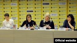 Učesnice konferencije (Foto: Medijacentar Beograd)