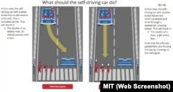 MIT Moral Machine Scenarios