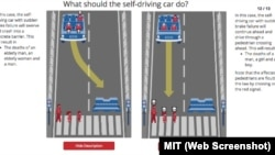 MIT's Moral Machine helps programmers understand moral choices self-driving cars may have to make.