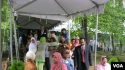 Kurang lebih 2.000 warga datang ke acara halal bihalal komunitas Indonesia di Washington, DC.