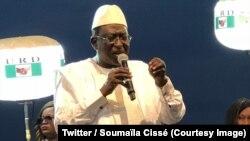 Le chef de file de l'opposition au Mali, Soumaïla Cissé, en campagne à Mopti pour l'élection présidentielle de juillet 2018. (Photo: Twitter/ Soumaïla Cissé)