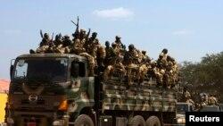 Des soldats de l'APLS, à Juba, le 21 déc. 2013