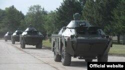 Oklopna vozila BRDM-2MS, koje je Rusija donirala Srbiji zajedo sa tenkovima Tenkovi T-72MS u vrednosti od 75 miliona evra, predstavljeni su javnosti u kasarni Vojske Srbije u Nišu, 23. maja 2021.