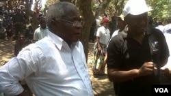 Afonso Dhlakama, líder da Renamo, em Gorongosa