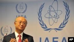 지난 9일 오스트리아 비엔나에서 기자회견을 가진 국제원자력기구(IAEA) 아마노 유키야 사무총장. (자료사진)