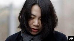 Cho Hyun-ah, mantan kepala layanan kabin maskapai Korean Air, di Seoul, Korea Selatan (12/12).
