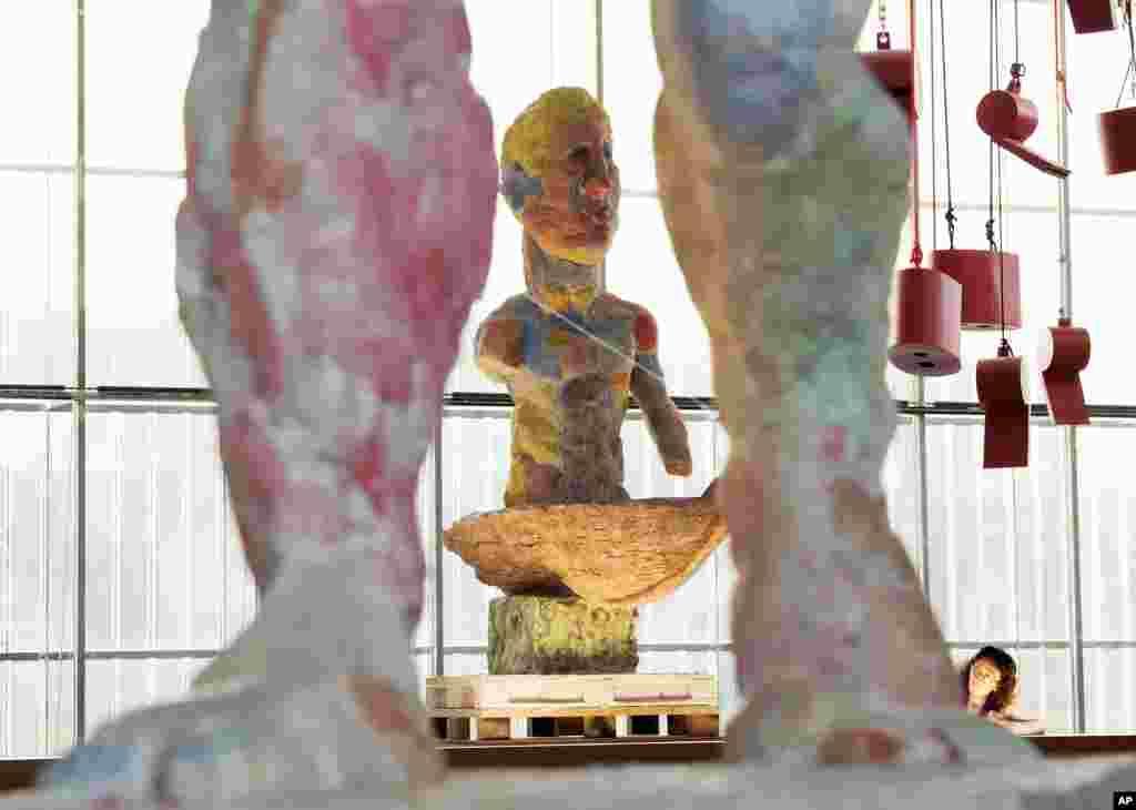نمایش هنر معاصر در موزه هنرهای زیبا در شهر لایپزیگ آلمان.