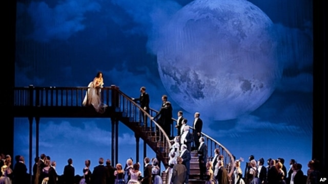 """A scene from Act 3 of Donizetti's """"Lucia di Lammermoor,"""" taken during the Metropolitan Opera's tour to Japan, June 2011."""