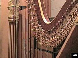 The winner of the harp competition wins a custom-made Lyon and Healy gold concert harp valued at $55,000.