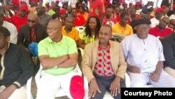 Professor Welshman Ncube, Nelson Chamisa and Tendai Biti