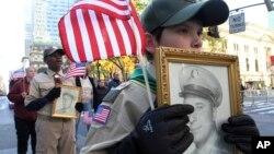 2018年11月11日纽约五大道举行退伍军人节游行