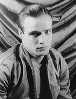 "Portrait of Marlon Brando from the play ""A streetcar named desire"""