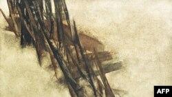 عکس آرشیوی از یک تابلوی نقاشی اثر سهراب سپهری که ۳ سال پیش در یک حراجی در لندن به فروش رفت.