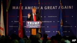 미 공화당 도널드 트럼프 대선 후보가 7일 사우스캐롤라이나 주 마운틴 플레젠트에서 연설하고 있다.