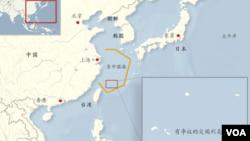 中日有爭議的尖閣列島/釣魚島地理位置